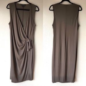 St. John brown wrap dress